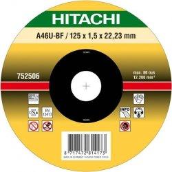 HITACHI Tarcza do cięcia metalu INOX 115x1x22,2mm płaska - PREMIUM