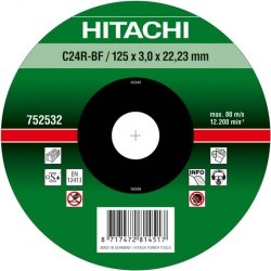 HITACHI Tarcza do cięcia kamienia 125x3x22,2mm płaska - PREMIUM