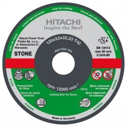 HITACHI Tarcza do cięcia kamienia C24R 230x3,0x22,2mm płaska - STANDARD