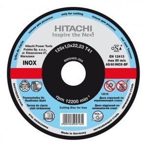 HIKOKI Tarcza do cięcia metalu INOX A60T 125x1,0x22,2mm płaska - STANDARD