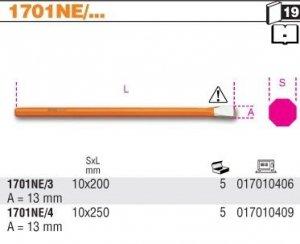 Beta 1701NE/3 Przecinak płaski dla elektryków 10x200mm