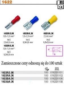Beta 1622R/2.8K Końcówki kablowe zaciskowe płaskie 100 szt