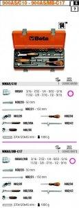 Beta 900AS/C10 Zestaw nasadek calowych 3/16-9/16 1/4