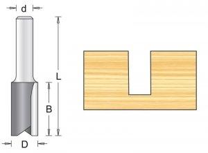 Frez prosty 8x19/63mm, chwyt 12mm