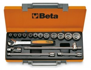 Beta 920A/C12 Zestaw nasadek 1/2 z wyposażeniem 17szt