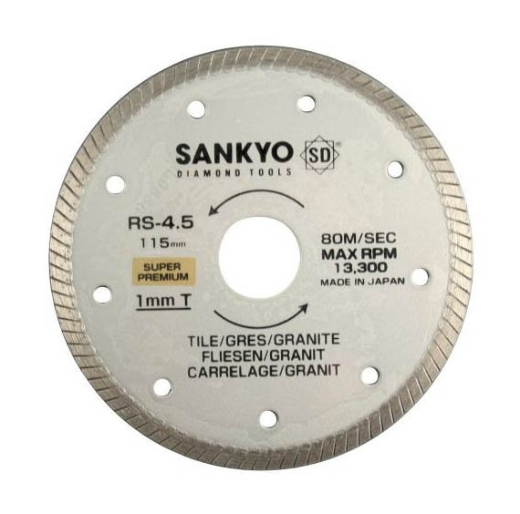Tarcza diamentowa 230 mm do cięcia twardej ceramiki RS-9 ciągła, karbowana 230 x 2,0 x 6 x 22.2mm