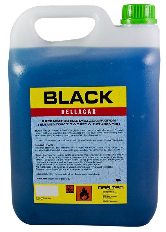 Płyn do konserwacji opon gumy 10L BLACK