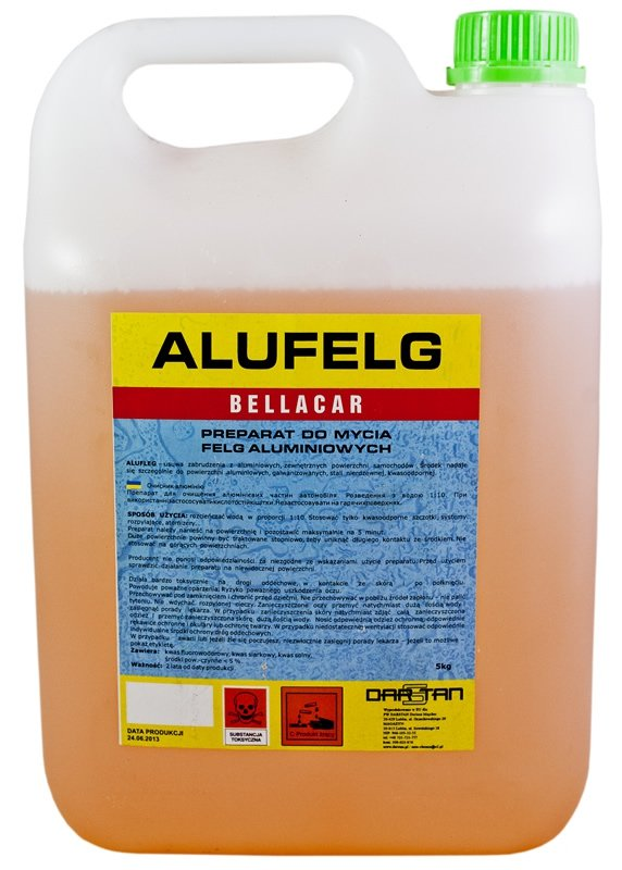 Płyn do mycia felg aluminium 25kg ALUFELG