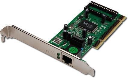 Digitus Karta sieciowa przewodowa PCI do Gigabit 10/100/1000Mbps, Low Profile
