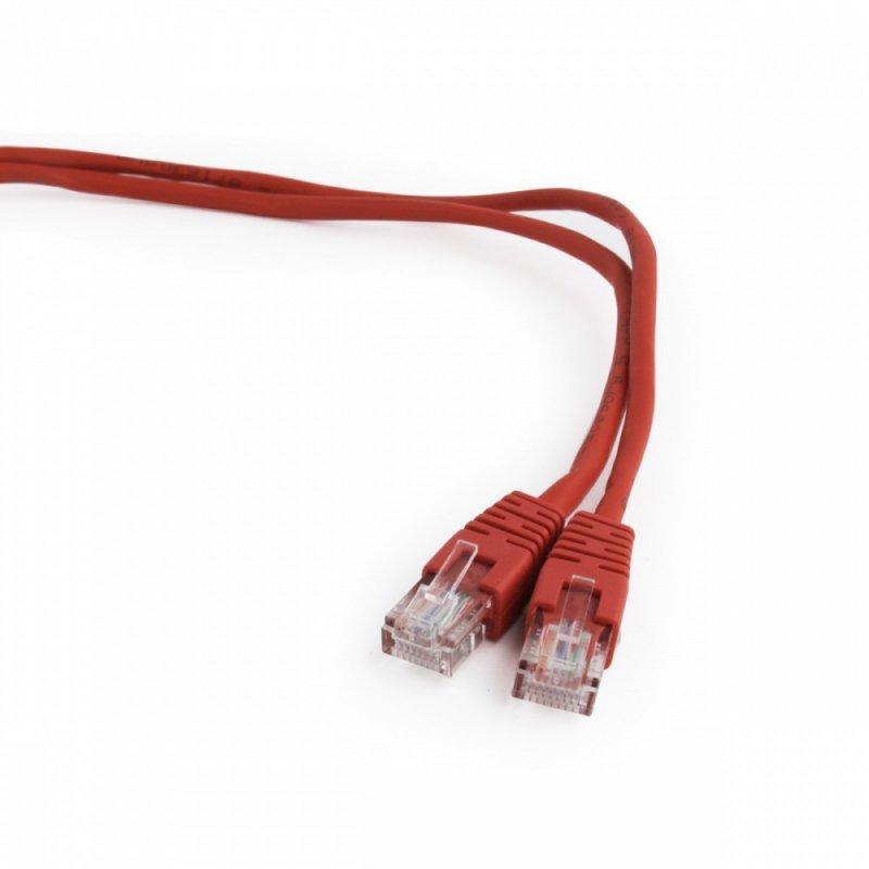 Gembird Patch cord kat.5e osłonka zalewana 5M czerwony