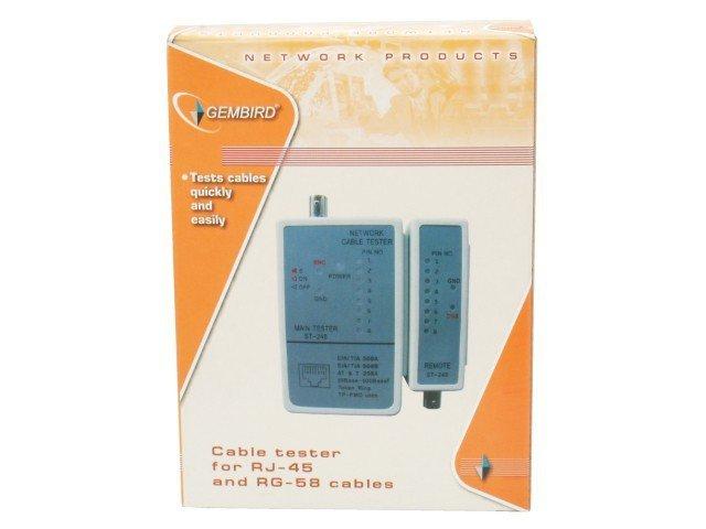 Gembird Tester diodowy kabli RJ45, RG-58