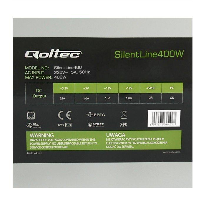Qoltec Zasilacz ATX SilentLine 425W (bulk)