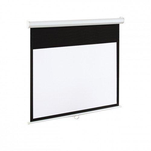 ART Ekran elektryczny 16:9 120 265x150 biały z pilotem