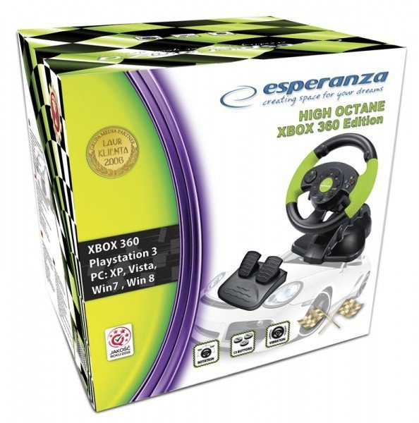 Esperanza KIEROWNICA EG104 PC/PS3 X-BOX 360, VIBRATION FOR