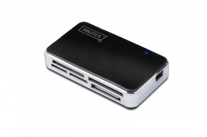 Digitus Czytnik kart 5-portowy USB 2.0 HighSpeed (ALL-IN-ONE), HQ, czarno-srebrny