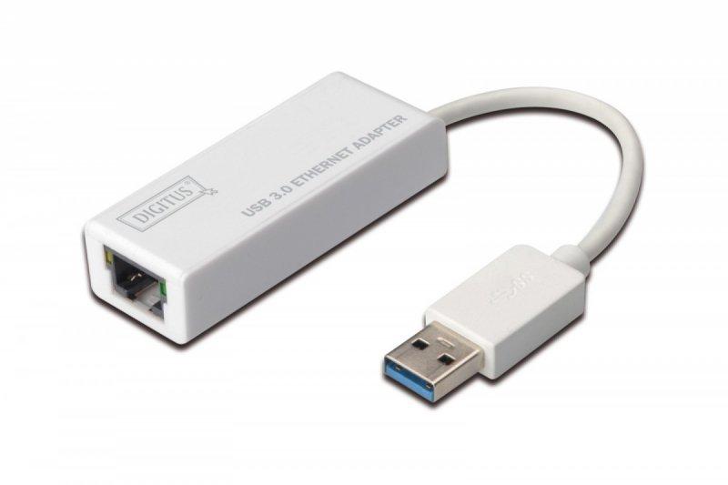 Digitus Karta sieciowa przewodowa USB 3.0 do Gigabit Ethernet 10/100/1000Mbps