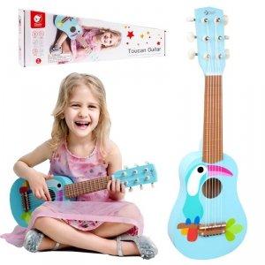 CLASSIC WORLD Drewniana Gitara Dla Dzieci Toucan
