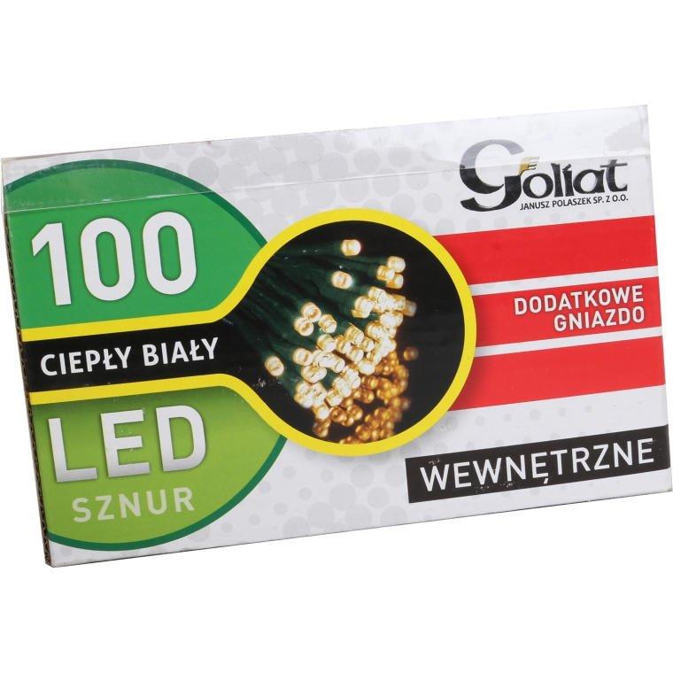 LAMPKI CHOINKOWE 100 LAMPEK LED BIAŁE + PRZEDŁUŻKA
