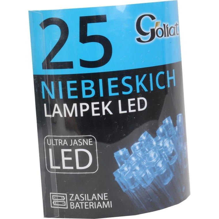 Lampki choinkowe OŚWIETLENIE LED WEWNĘTRZNE BATERIA 25 SZTUK