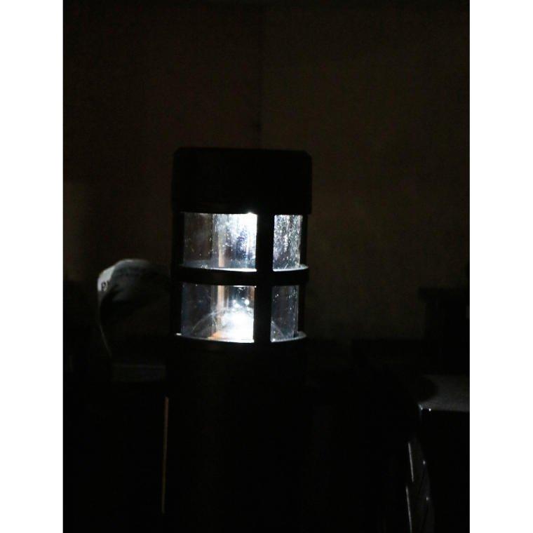 LAMPA SOLARNA NOWOCZESNA CZARNA LAMPION  ŚWIECZNIK