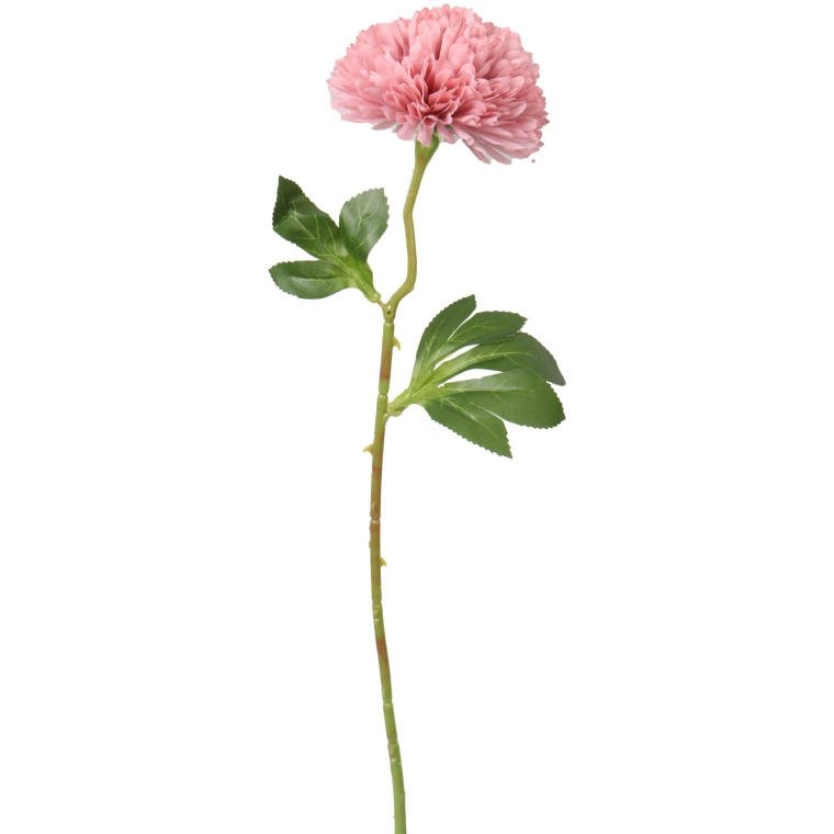 Kwiat sztuczny czosnek pudrowy róż ozdoba pojedyncza