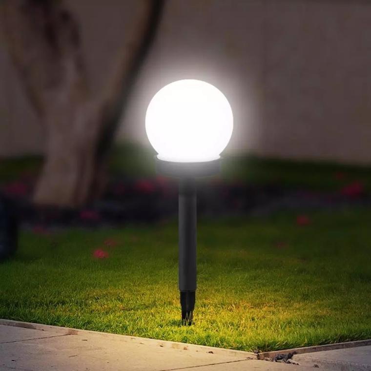 KULA SOLARNA LAMPA SOLARNA NA SŁUPKU CZARNA