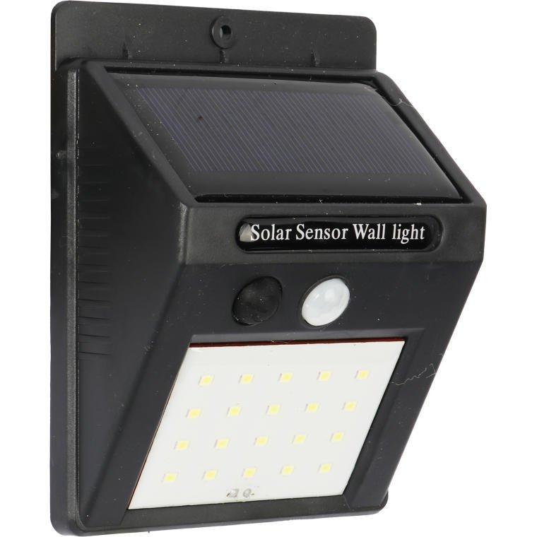 LAMPA SOLARNA CZUJNIK ZMIERZCHU I RUCHU 20 LED