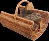 Kosz na drewno do kominka (listwa/60cm) - sklep z wiklina - zdjęcie