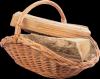 Kosz na drewno  z wyścieleniem z juty (Talerz) - sklep z wiklina - zdjęcie