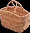 Kosz na zakupy (San/garbaty 30 cm) - sklep z wiklina - zdjęcie