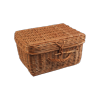 Kosz - kufer - piknikowy - kwadrat - średni - zdjęcie