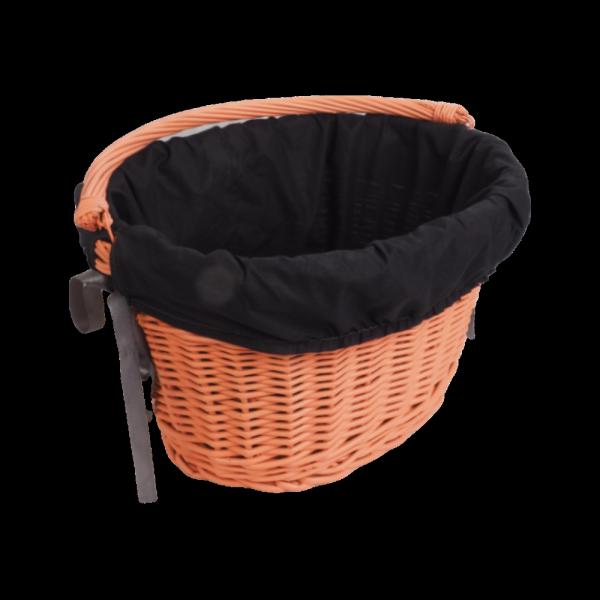 Kosz rowerowy przedni  z wkładem (Clik/Pomarańczowy) - sklep z wiklina - zdjęcie