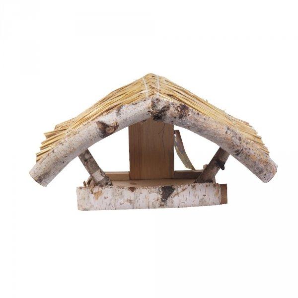 Karmnik dla ptaków kryty słomą (wzór 4) - sklep z wiklina - zdjęcie