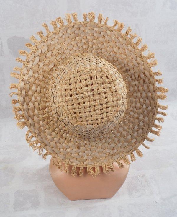 Letni kapelusz ( Rafia/35cm) - sklep z wiklina - zdjęcie 1