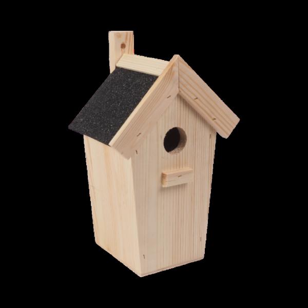 Budka lęgowa dla ptaków (papa/czarna) - sklep z wiklina - zdjęcie