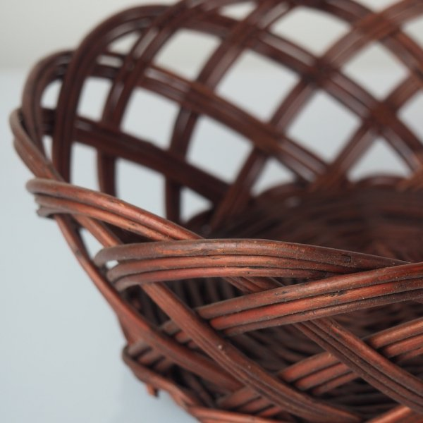 Tacka ażurowa wenge (Okrągła/23cm) - sklep z wiklina - zdjęcie 2