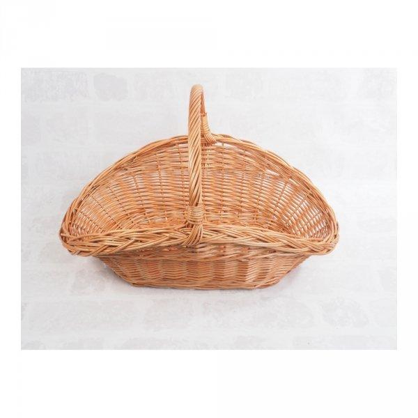 Kosz na drewno do kominka (talerz) - sklep z wiklina - zdjęcie 2