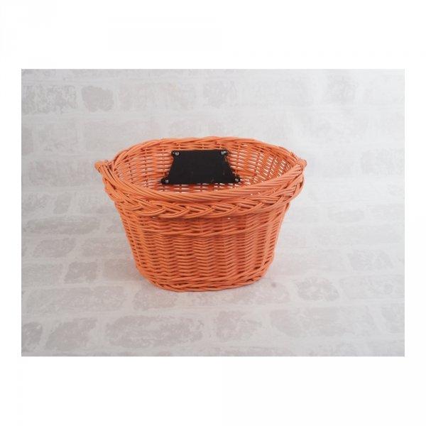 Kosz rowerowy przedni (clik, pomarańczowy) - sklep z wiklina - zdjęcie 1
