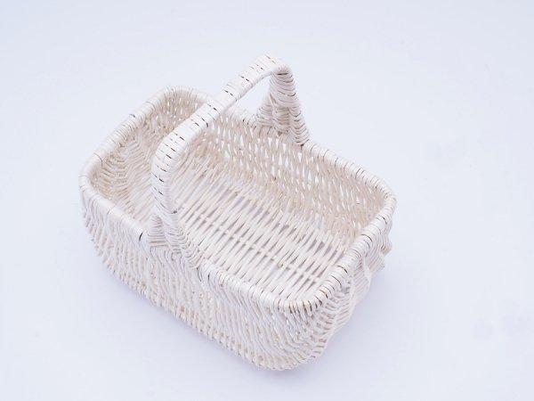Koszyczek Wielkanocny  (Holender/Biały/24cm) - sklep z wiklina - zdjęcie 1