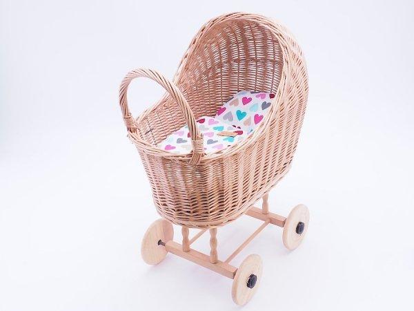 Wózek dla lalek (Klasyczny/Wzór) - Sklep z wiklina - zdjęcie 1
