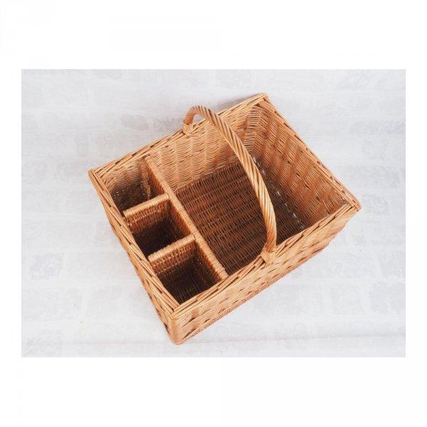 Kosz piknikowy (Prostokąt/50cm) - sklep z wiklina - zdjęcie 2