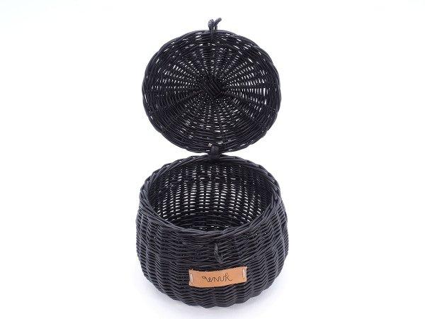 Szkatułka okrągła wenge (Baryłka/11cm) - Sklep z wiklina - zdjęcie 1