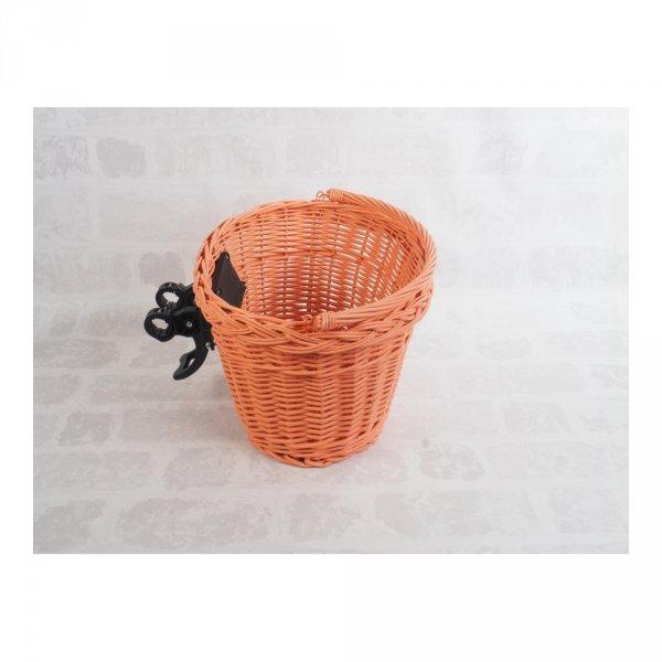 Kosz rowerowy przedni (clik, pomarańczowy) - sklep z wiklina - zdjęcie 2