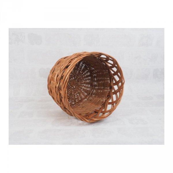 osłonka na donicę (ażur/naturalna/32cm) - sklep z wiklina - zdjęcie 2