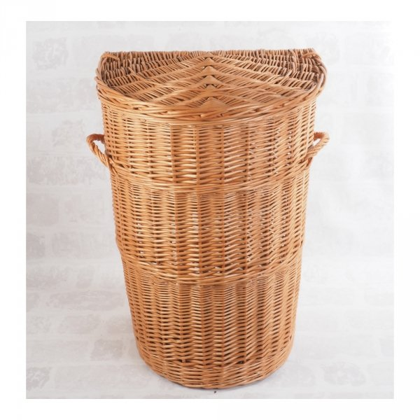Kosz na ubrania (półokrągły/35cm) - sklep z wiklina - zdjęcie 2