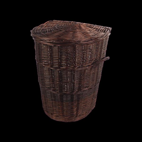 Kosz na ubrania (Półokrągły/Wenge/45cm) - sklep z wiklina - zdjęcie