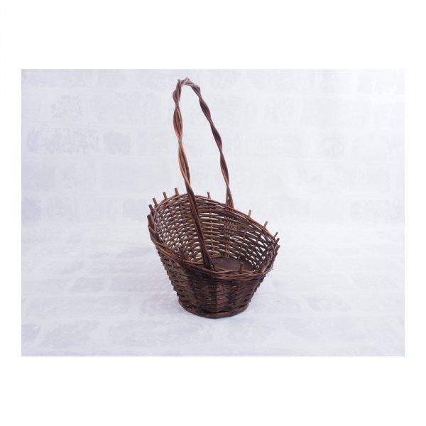 Kosz prezentowy - wenge (Mały) - sklep z wiklina - zdjęcie 1