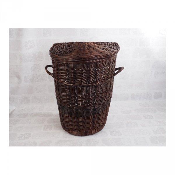 Kosz na ubrania (Półokrągły/Wenge/50cm) - sklep z wiklina - zdjęcie 2