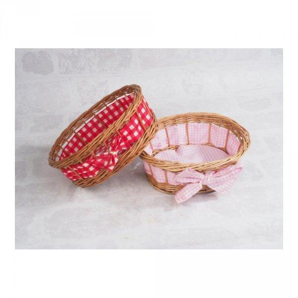 Tacka ażurowa z dekoracją (Owalna/23cm) - sklep z wiklina - zdjęcie 2