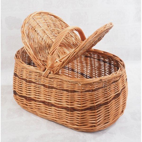 Kosz piknikowy (wzór 6) - sklep z wiklina - zdjęcie 2